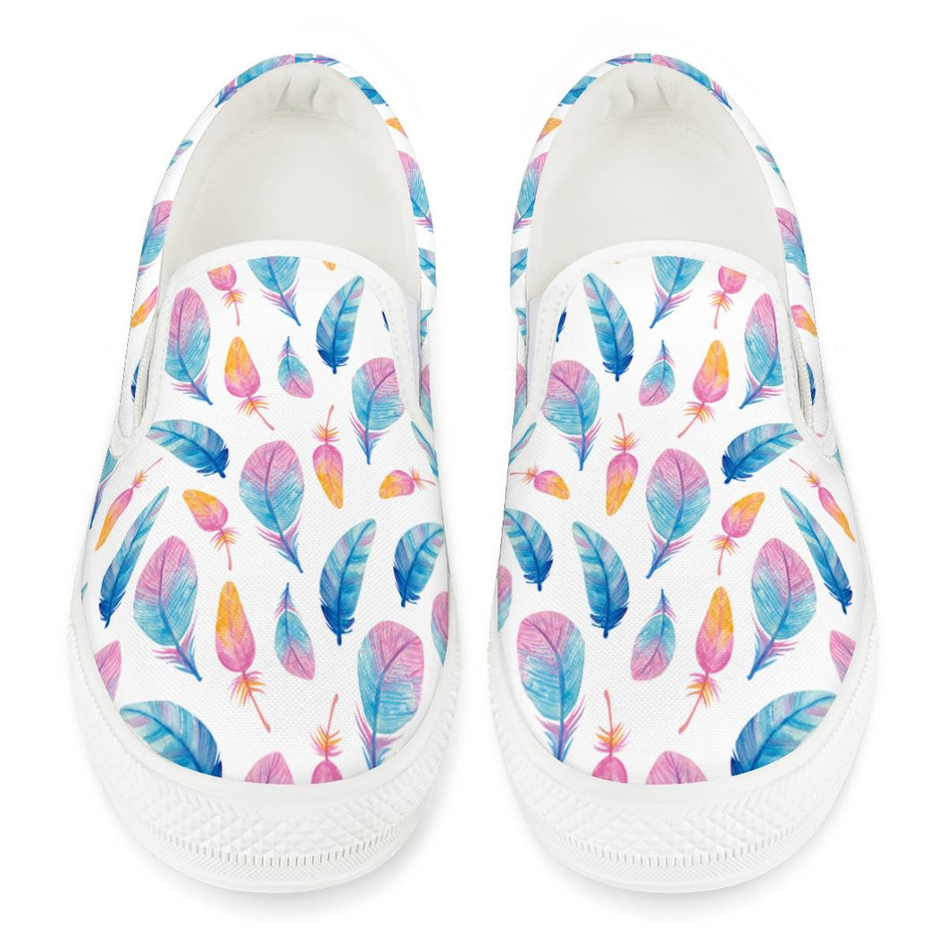 Fly Away - White Slip On Shoes