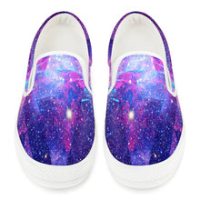 Load image into Gallery viewer, Intergalactic - White Slip On Shoes