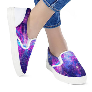 Intergalactic - White Slip On Shoes
