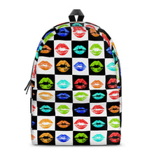 Load image into Gallery viewer, Lips All Over Print Cotton Backpack