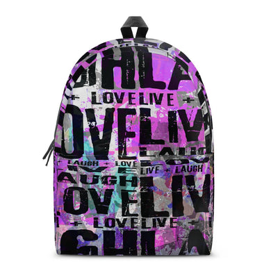 Live Laugh Love All Over Print Cotton Backpack