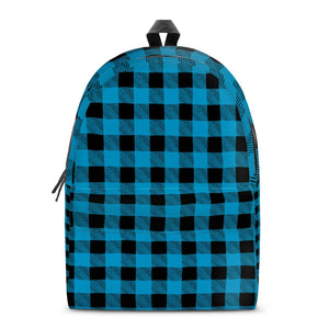 Blue Plaid - All Over Print Cotton Backpack