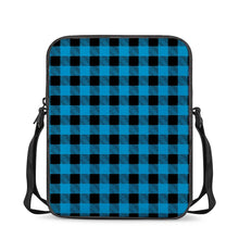Load image into Gallery viewer, Blue Plaid - Cross-Body Bags