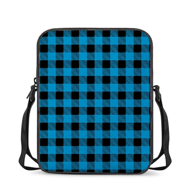 Blue Plaid - Cross-Body Bags