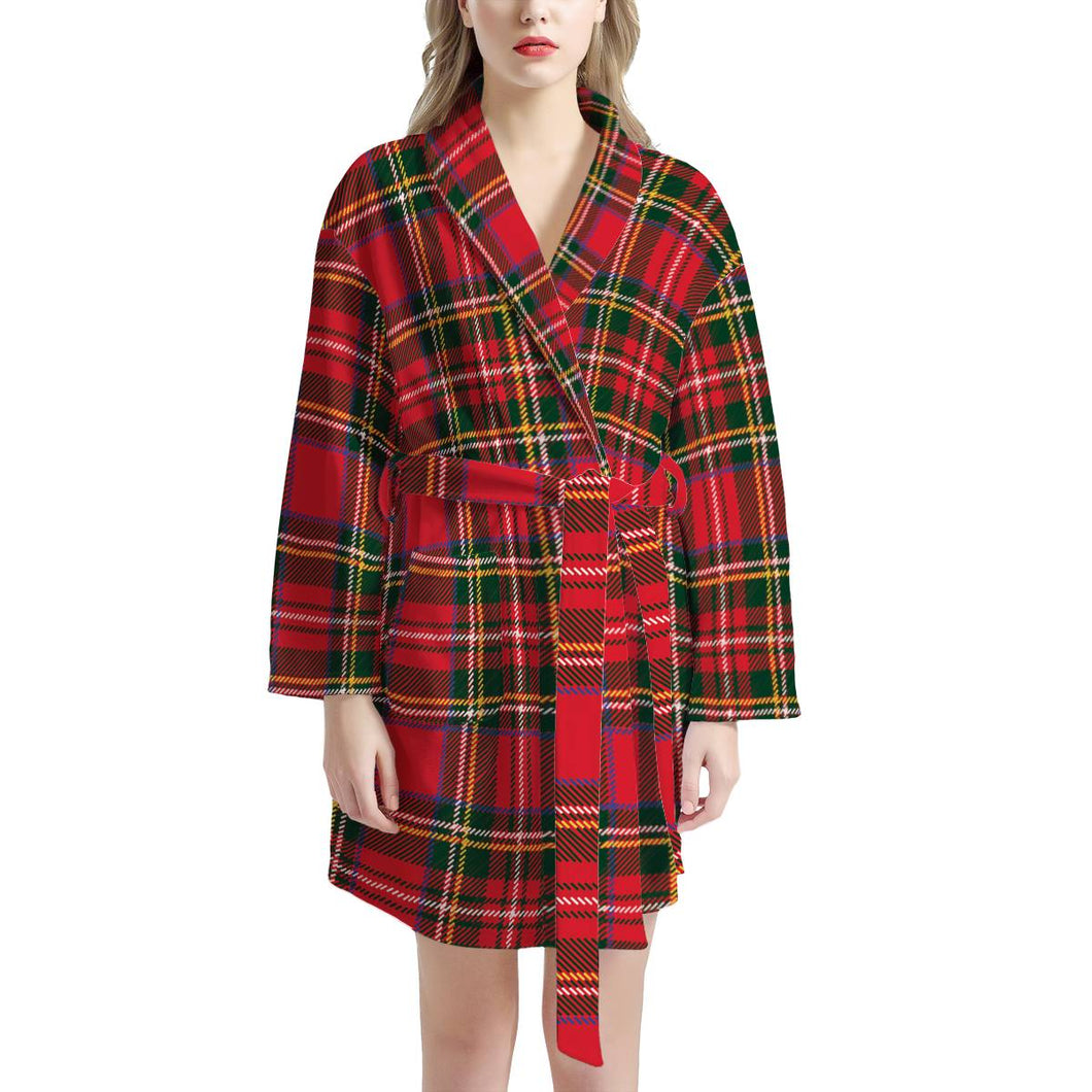 Red Plaid - Women's Bathrobe