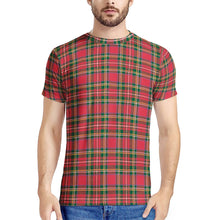 Load image into Gallery viewer, Red Plaid - New Men's All Over Print T-shirt