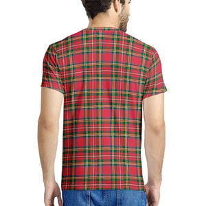 Red Plaid - New Men's All Over Print T-shirt