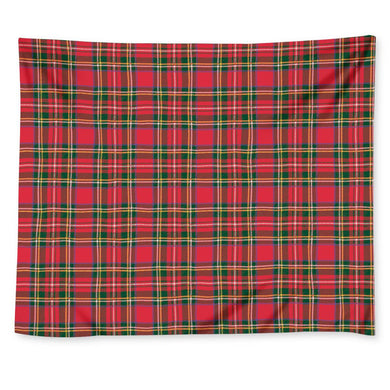 Red Plaid - Wall Tapestry