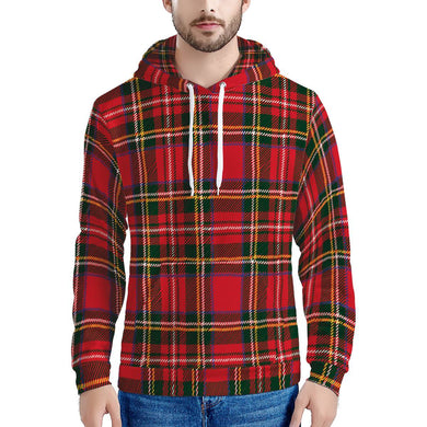 Red Plaid - Men's All Over Print Hoodie