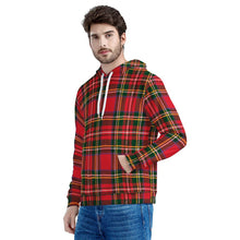 Load image into Gallery viewer, Red Plaid - Men's All Over Print Hoodie