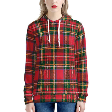 Red Plaid - Women's All Over Print Hoodie