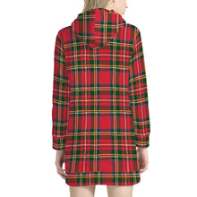 Load image into Gallery viewer, Red Plaid - Women's Hoodie Dress