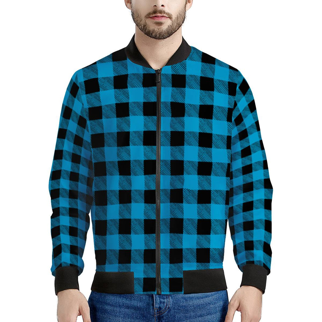 Blue Plaid - Men's Bomber Jacket