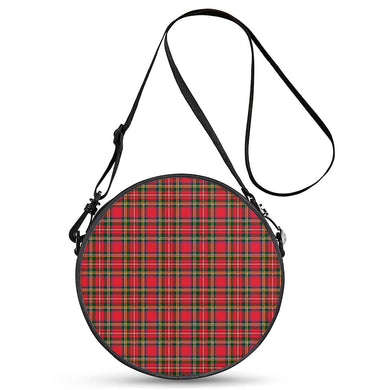 Red Plaid - Round Satchel Bags