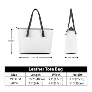 Secret of Life - Leather Tote Bags