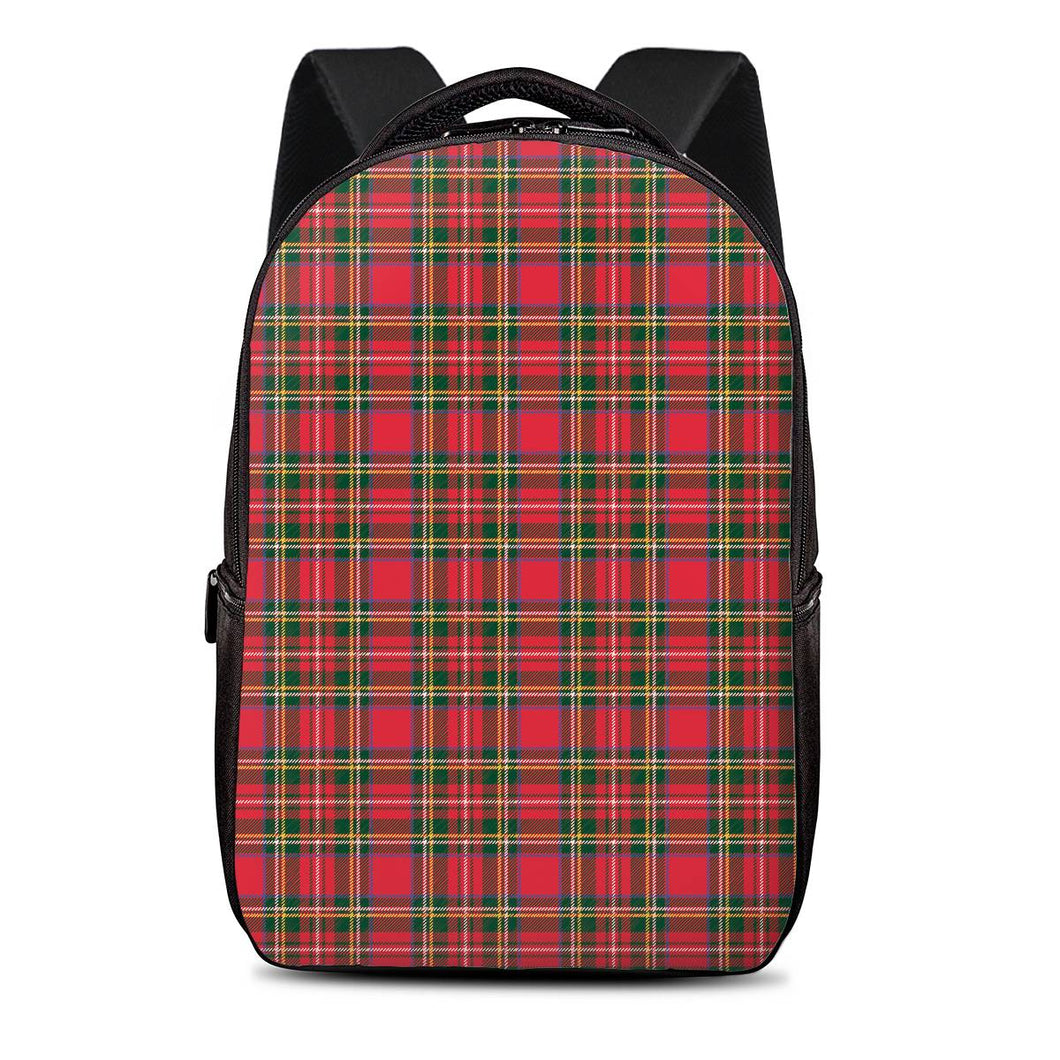 Red Plaid - Laptop Backpack