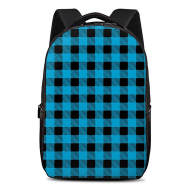 Blue Plaid - Laptop Backpack