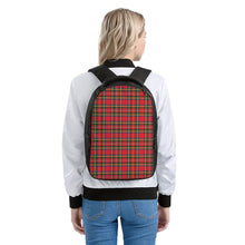 Load image into Gallery viewer, Red Plaid - Laptop Backpack