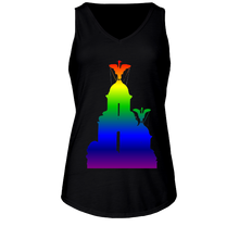Load image into Gallery viewer, Rainbow: Liver Birds Ladies Flowy V Neck Tank