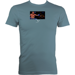 Zarate Bellew: Men's Fitted Tee (Black, Navy or Stone Blue)