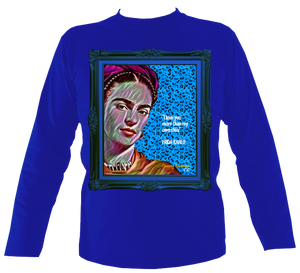 "Frida: No.3 ""I love you more..."" in Blue Frame - Long Sleeve"