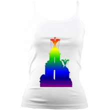 Load image into Gallery viewer, Rainbow: Liver Birds Spaghetti Strap Tank Top