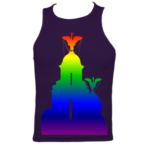 Rainbow: Liver Birds Men's Fitted Sports Vest