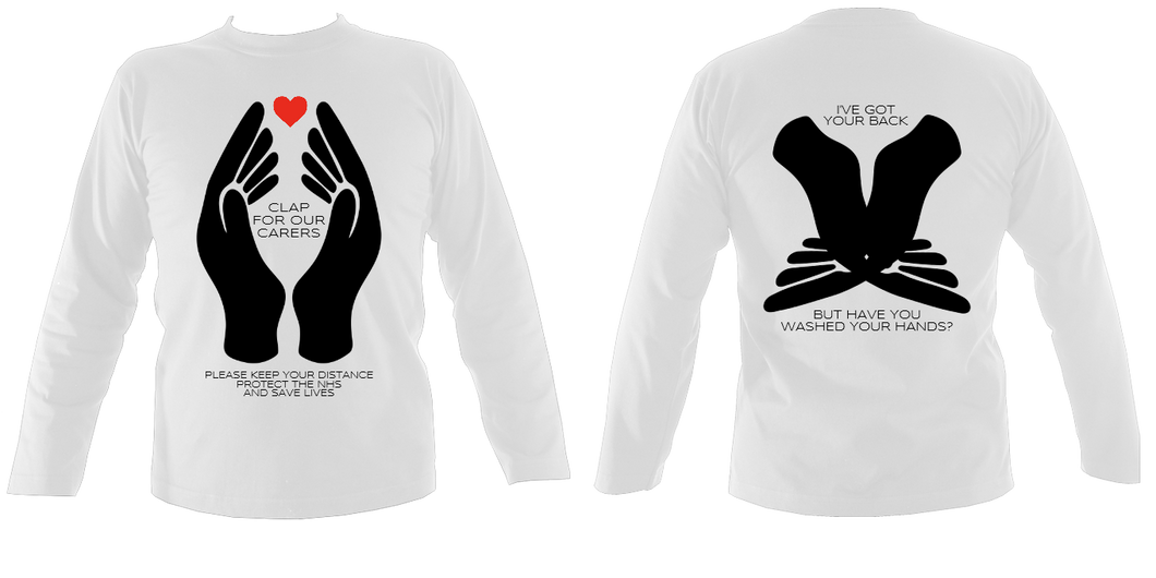 #ClapForOurCarers - Long Sleeve (printed front & back)