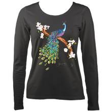 Load image into Gallery viewer, June Lornie: Peacock (Ladies Long Sleeve Top)