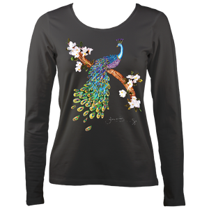 June Lornie: Peacock (Ladies Long Sleeve Top)