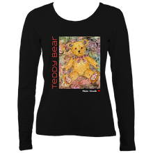 Load image into Gallery viewer, Maxine Shisselle: Teddy Bear#4 (Ladies Long Sleeve T-shirt)
