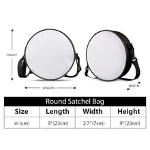 Load image into Gallery viewer, Blue Plaid - Round Satchel Bags
