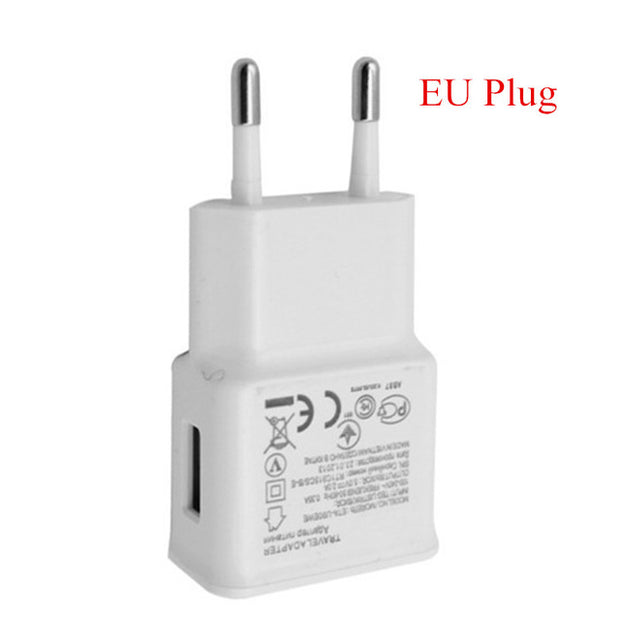 Micro USB Cable & 5V 2A Travel Wall Charger