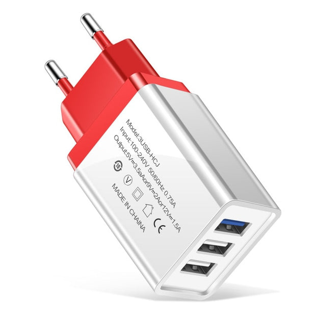 5V/2A 3 Ports USB Charger