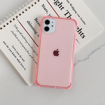Shockproof Solid Color Clear Phone Case