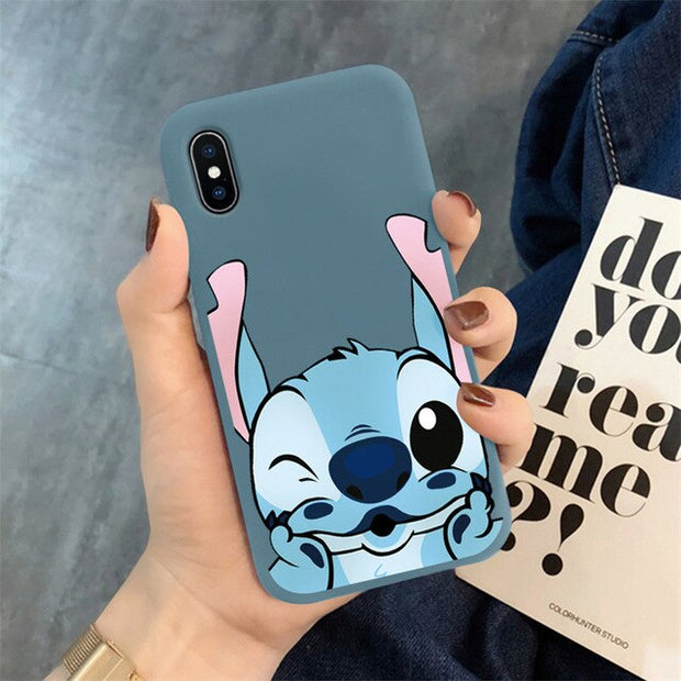 Cartoon Matte Phone Case For iPhone