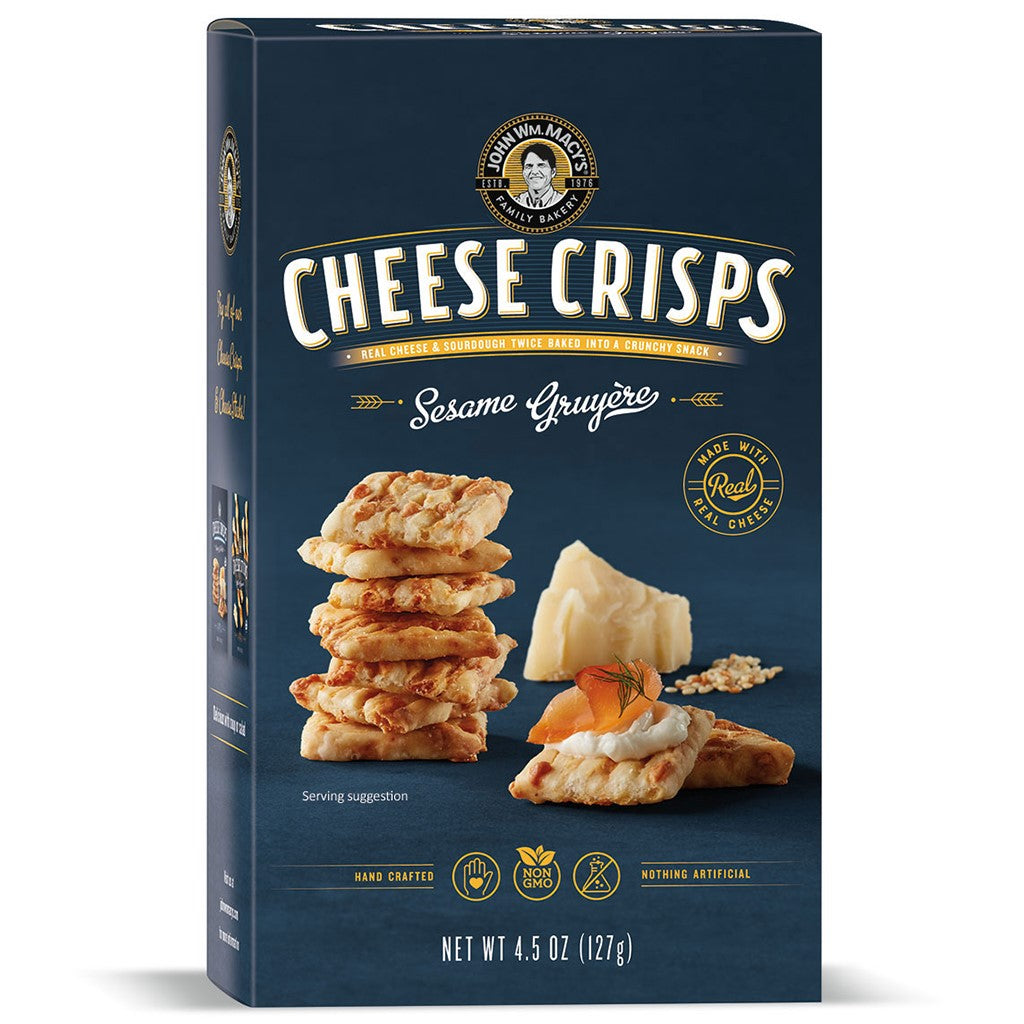 Sesame Gruyère CheeseCrisps 4.5-oz Ctn