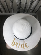 Load image into Gallery viewer, Bride Floppy Hat