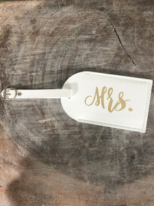 Two Piece Mr. & Mrs. Passport Cover & Luggage Tag Set