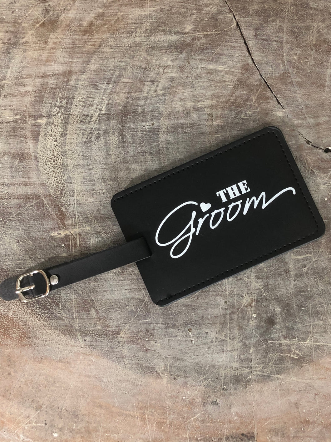 The Groom Luggage Tag