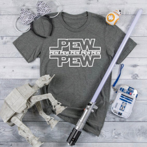Star Wars Pew Pew Vacation Shirt Sugar Locks