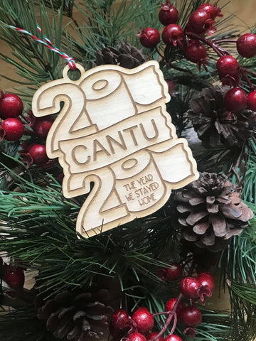 Personalized 2020 Toilet Paper Family Engraved Wood Ornament