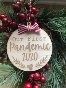Our 1st Pandemic Engraved Ornament