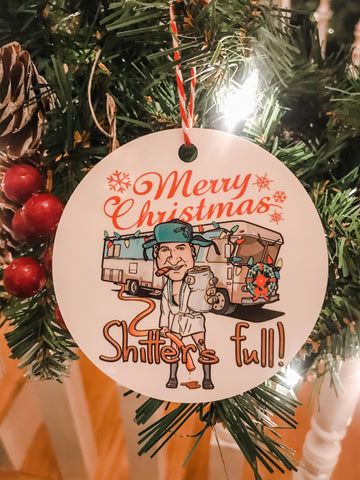 Christmas Vacation Cousin Eddie Shitter's Full RV Ornament