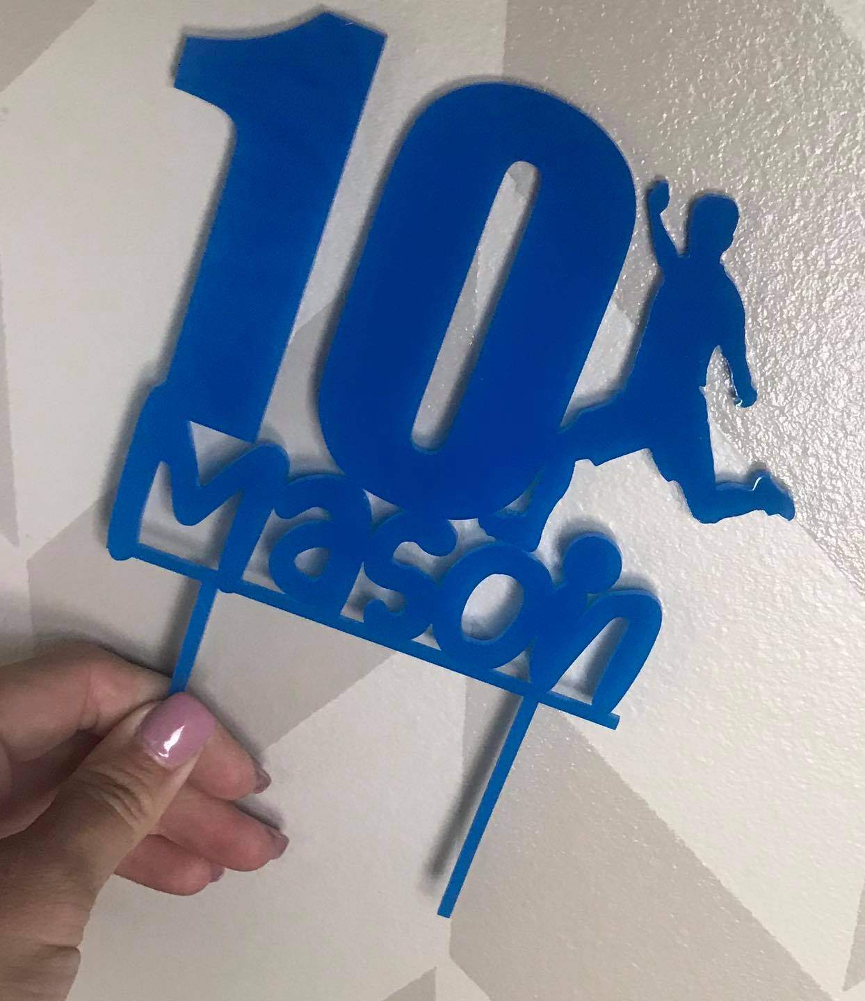 Soccer Sports  Acrylic Cake Topper