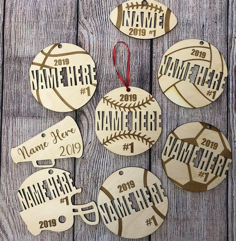 New Sport ornaments 2020 Personalized SALE limited time only