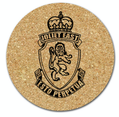 Set of 4 Cork Drink Coasters Choose your school!