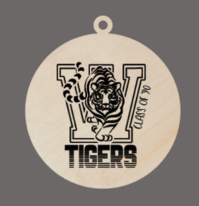 Joliet West Pick your graduating class!   Engraved Wood Ornament custom class of keepsake