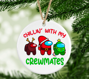 Christmas with my Crewmates Among Us Ornament