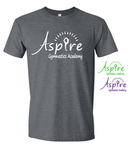 Aspire Logo Dark Gray Boxy T shirt